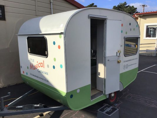 Little Musical Caravan at a school